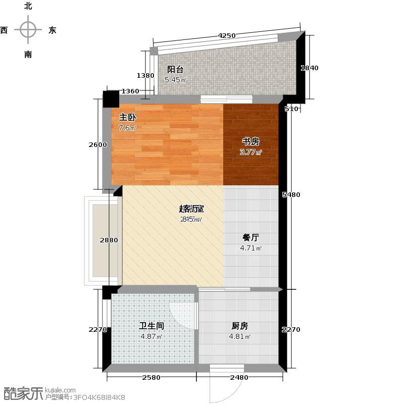 中意宝第45.00㎡一房一厅一卫-45.13平方米户型