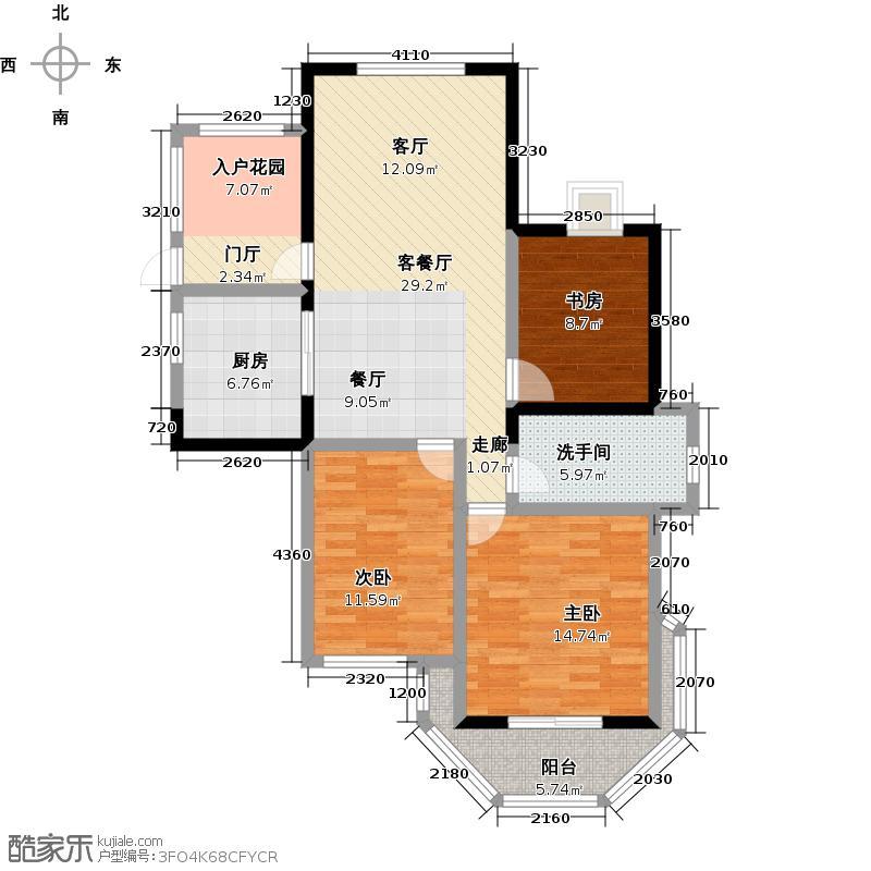 圣巴塞耶104.00㎡三房二厅一卫-104平方米-22套户型