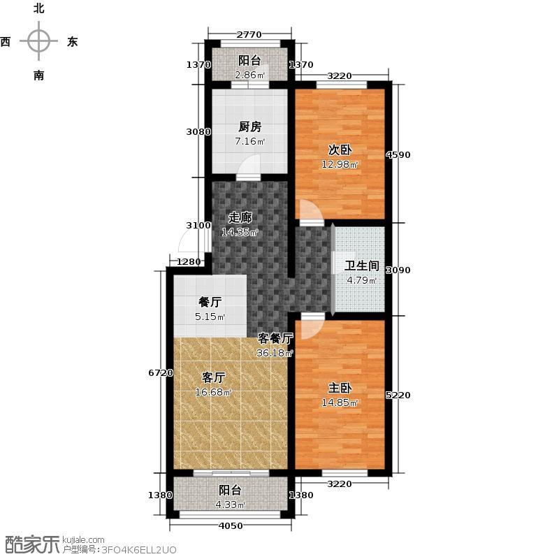 恒伟绿洲95.26㎡G反户型2室2厅1卫