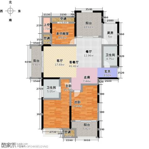 阳光龙庭2室1厅2卫1厨138.00㎡户型图