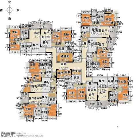 碧桂园常平首府9室0厅8卫8厨761.00㎡户型图