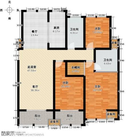 中天锦庭3室0厅2卫1厨187.00㎡户型图