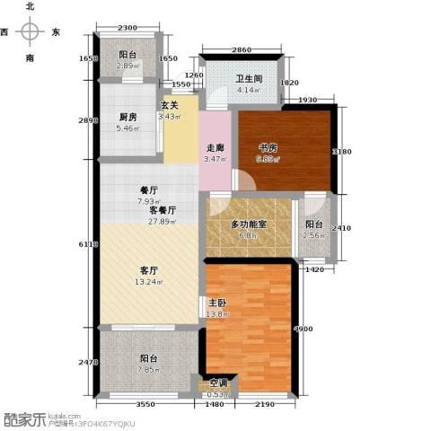 阳光龙庭2室1厅1卫1厨93.00㎡户型图