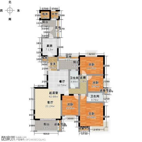 富力唐宁花园4室0厅2卫1厨164.00㎡户型图