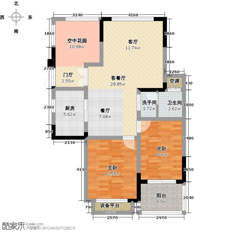 圣巴塞耶93.00㎡二房二厅一卫-93平方米-32套户型
