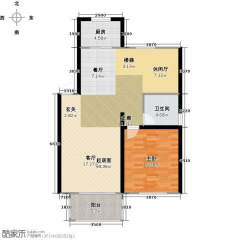 丽景华庭1室0厅1卫1厨200.00㎡户型图