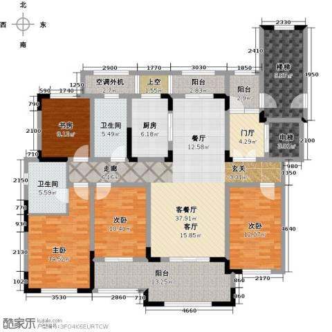 御景湾4室1厅2卫1厨165.00㎡户型图