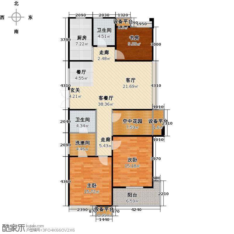 常发豪庭国际126.48㎡三房二厅二卫-126.48平方米-40套户型