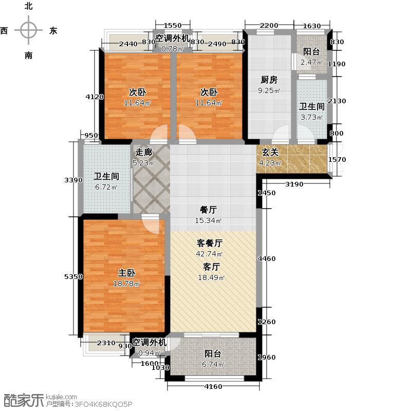 翡翠锦园133.41㎡翡翠锦园133.41㎡3室2厅2卫户型3室2厅2卫