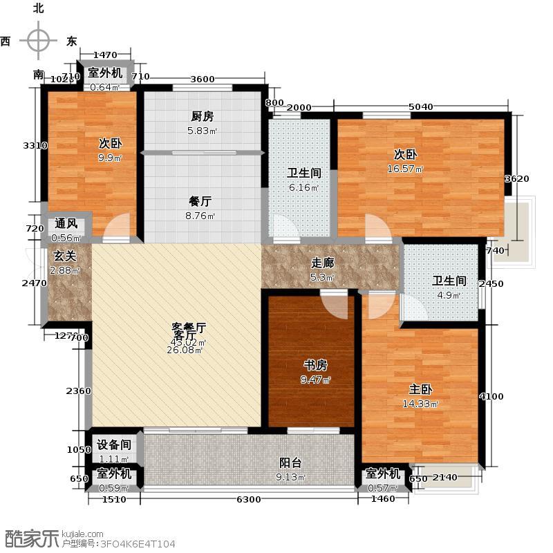 阳光100国际新城173.90㎡C1 四室两厅两卫户型4室2厅2卫
