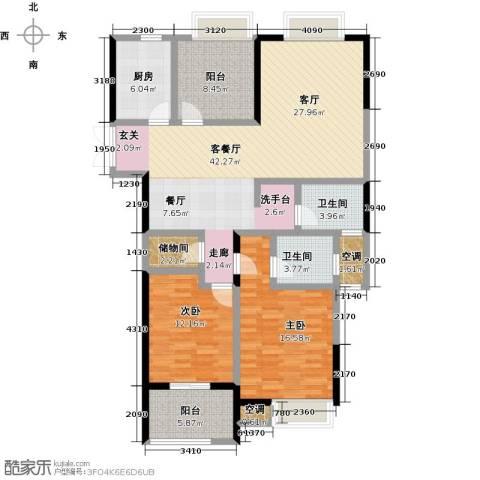 阳光龙庭2室1厅2卫1厨120.00㎡户型图