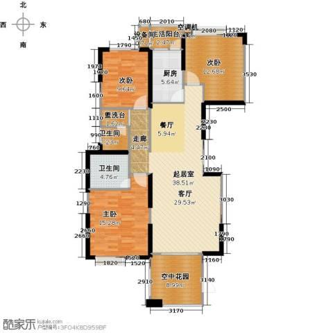 联诚国际城3室0厅2卫1厨134.00㎡户型图