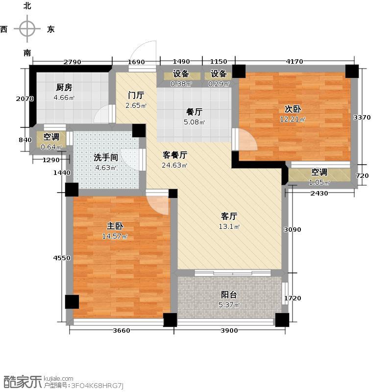 圣巴塞耶81.00㎡二房二厅一卫-81平方米-40套户型