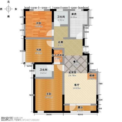 大唐东方盛世3室0厅2卫1厨115.00㎡户型图