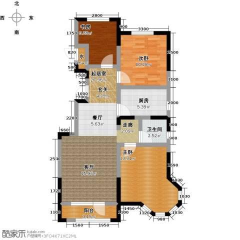 大唐东方盛世3室0厅1卫1厨98.00㎡户型图