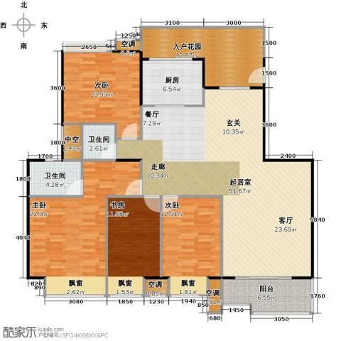 银汇华庭4室0厅2卫1厨200.00㎡户型图