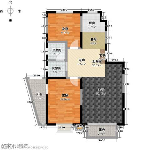 新兴北京郡2室0厅1卫0厨91.00㎡户型图