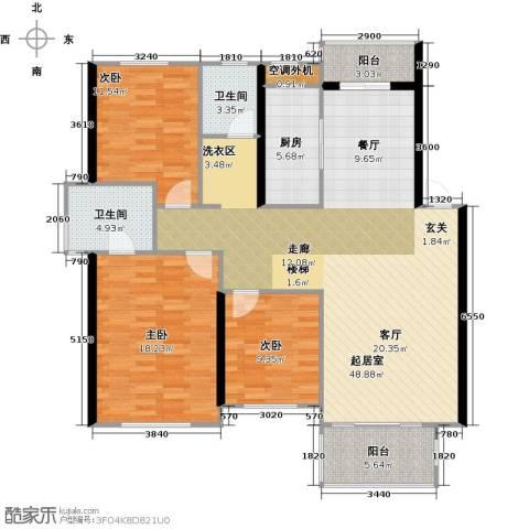 丽景华庭3室0厅2卫1厨200.00㎡户型图