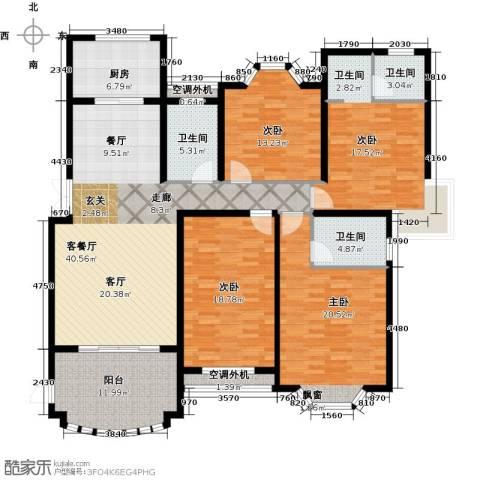 大名城4室1厅3卫1厨170.00㎡户型图