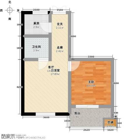 康乃馨国际老年生活示范城1室0厅1卫1厨54.00㎡户型图