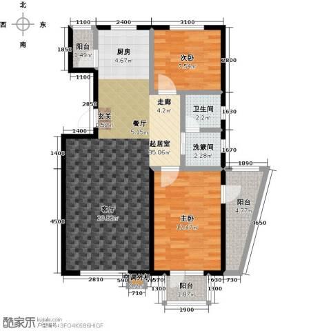 新兴北京郡2室0厅1卫0厨98.00㎡户型图