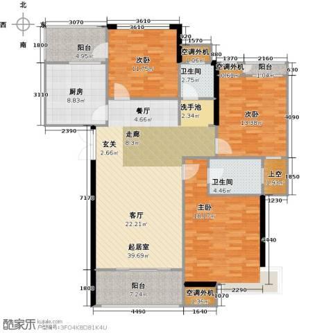 丽景华庭3室0厅2卫1厨143.00㎡户型图
