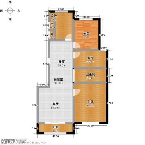 香江铂朗明珠3室0厅1卫1厨106.00㎡户型图