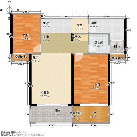 丽景华庭2室0厅1卫1厨98.00㎡户型图
