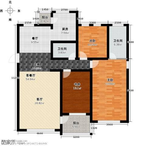 新发翡翠花溪3室1厅2卫0厨143.00㎡户型图