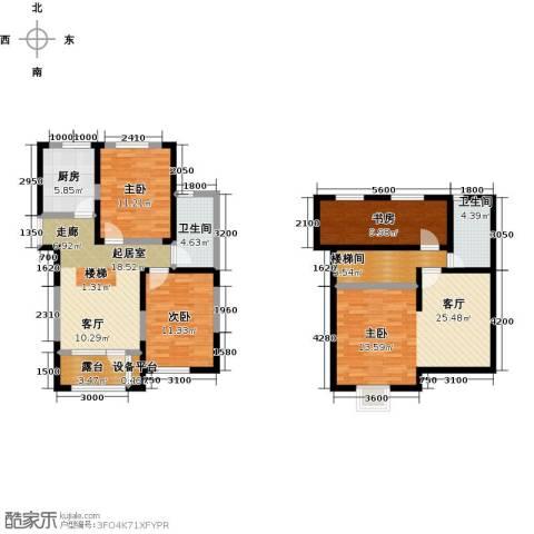 大唐东方盛世3室1厅2卫1厨134.00㎡户型图