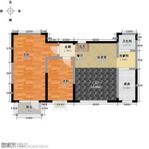 新兴北京郡2室0厅1卫1厨82.00㎡户型图