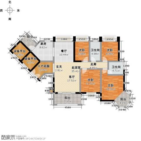 大信君汇湾4室0厅2卫1厨152.00㎡户型图
