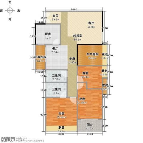 广弘天琪3室0厅2卫1厨143.00㎡户型图