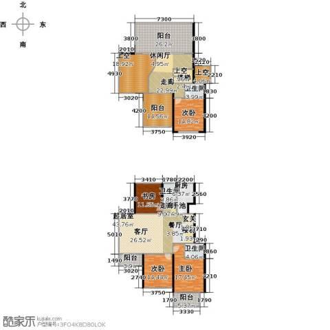 丽景华庭4室0厅3卫1厨294.00㎡户型图