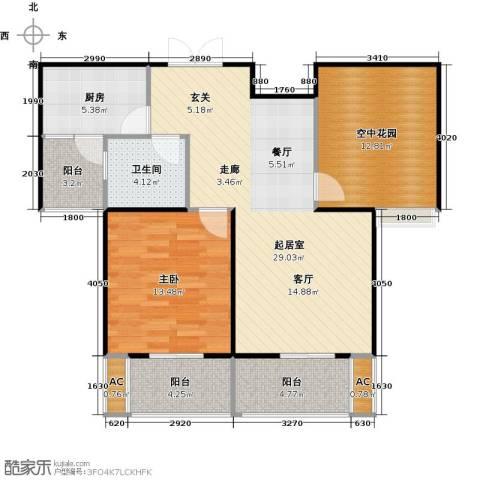 景尚名郡1室0厅1卫1厨86.00㎡户型图