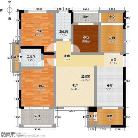 CROSS尚公馆3室0厅2卫1厨113.00㎡户型图