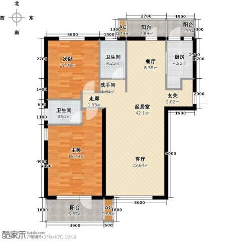 一等海2室0厅2卫1厨137.00㎡户型图