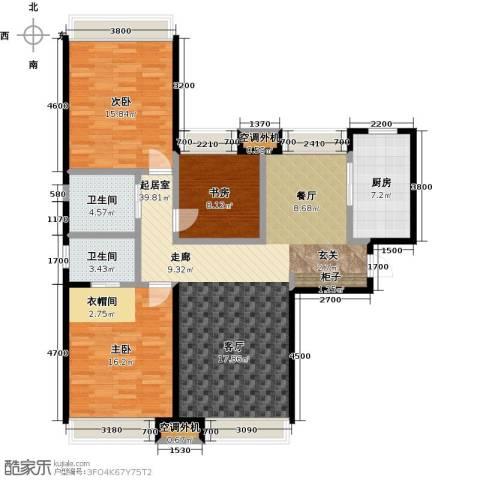 华发新城3室0厅2卫1厨144.00㎡户型图