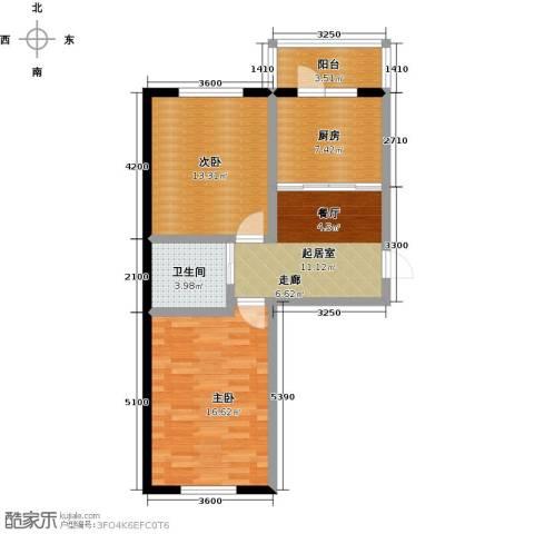 金色佳圆2室0厅1卫1厨72.00㎡户型图