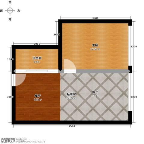 都市阳光壹公馆1室0厅1卫0厨58.00㎡户型图