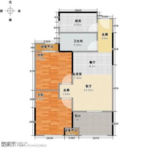 绿地世纪城2室0厅1卫1厨81.00㎡户型图