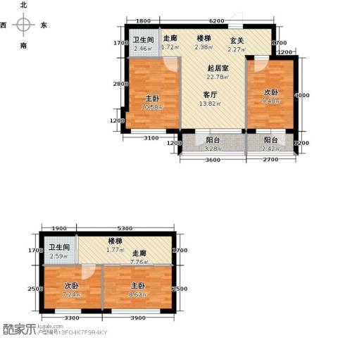 蓝山国际4室0厅2卫0厨111.00㎡户型图