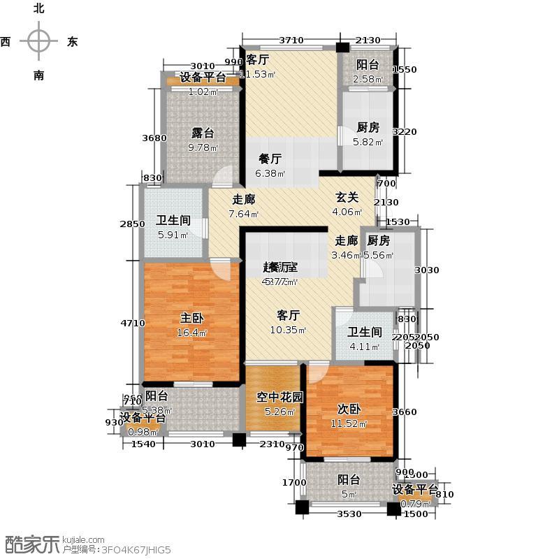 永宁星座147.53㎡1幢乙单元04室 3室2厅2卫1厨户型3室2厅2卫