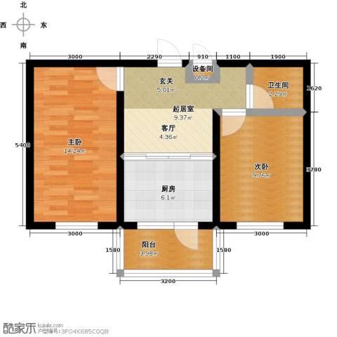 金色佳圆2室0厅1卫1厨65.00㎡户型图