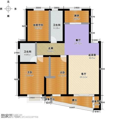 万科蓝山2室0厅2卫1厨115.00㎡户型图