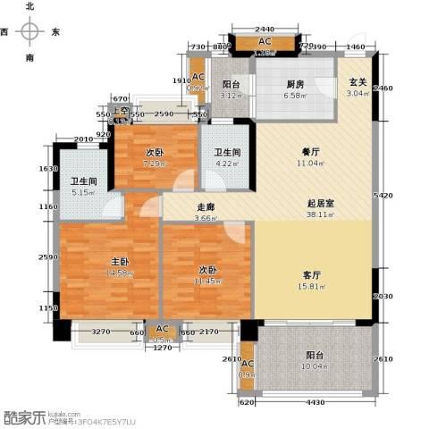 茵华花园3室0厅2卫1厨119.00㎡户型图