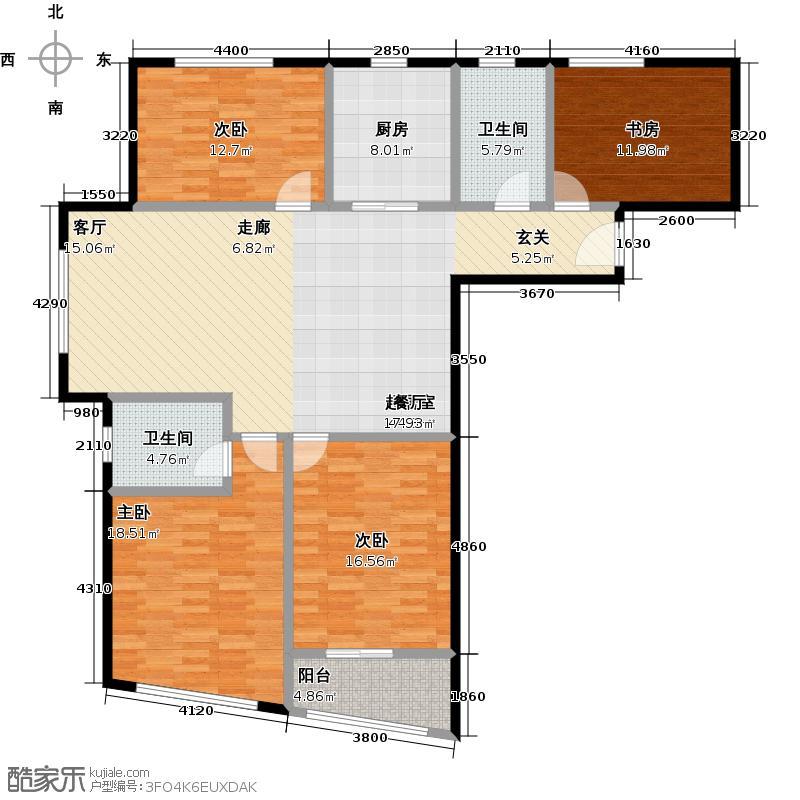 融锦融御华庭143.00㎡A户型4室2厅2卫户型4室2厅2卫