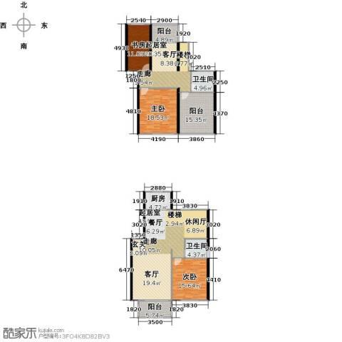 丽景华庭3室0厅2卫1厨209.00㎡户型图