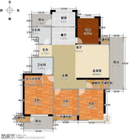 丽景华庭4室0厅2卫1厨166.00㎡户型图