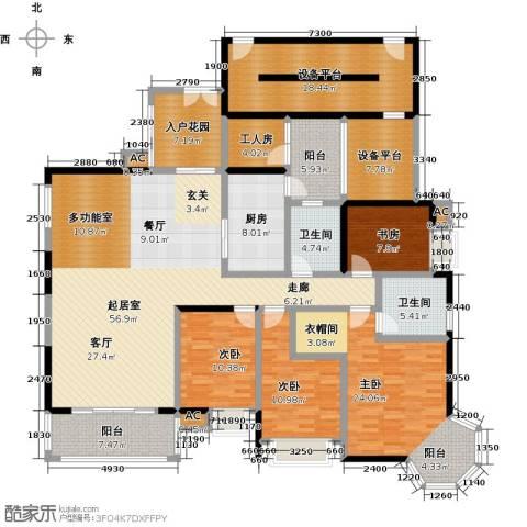 大信君汇湾4室0厅2卫1厨193.00㎡户型图